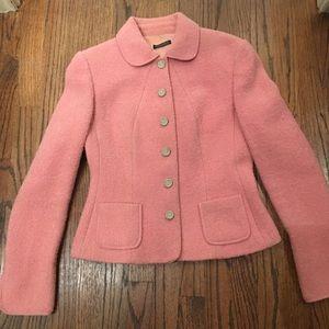Tahari pink boucle jacket size 6